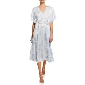 VINCE Midi Dress XL Crinkled Effect Casual Summer